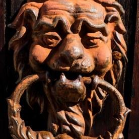 On the door