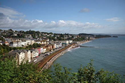 The view of Dawlish from above